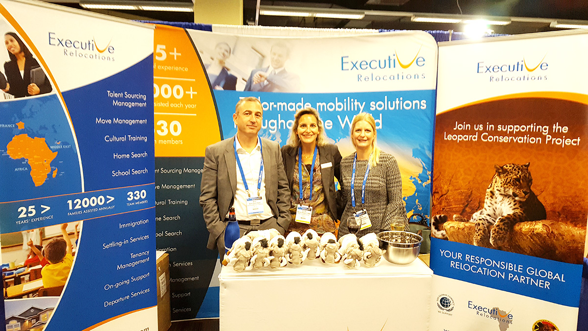 Executive Relocations booth at the wordwide ERC 2017 conference.